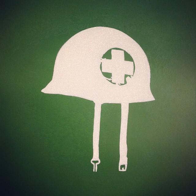 medic helmet, non-combatant, war, army helmet